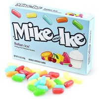 Mike and Ike Italian Ice 5-Ounce Candy Packs: 12-Piece Case