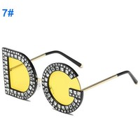 DG With Diamond Sunglasses European And American Fashion Sunglasses DG Yellow