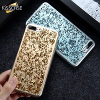 KISSCASE Case For iPhone 7 6 6S Plus 5 5S SE Bling Glitter Silicon Case For Samsung Galaxy S8 S7 Edge S6 Phone Case