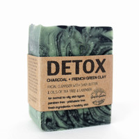 Detox Facial Bar - Activated Charcoal & French Green Clay