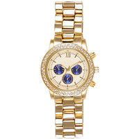 River Island Womens Gold tone blue dial oversized watch