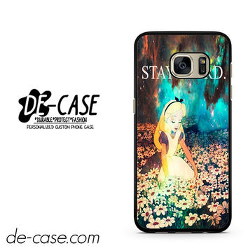 Stay Weird Alice In Wonderland Nebula DEAL-10125 Samsung Phonecase Cover For Samsung Galaxy S7 / S7 Edge