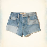 Girls High-Rise Denim Vintage Shorts | Girls New Arrivals | HollisterCo.com