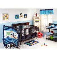 Disney Baby Mickey Mouse My Friend Mickey 4-pc. Crib Bedding Set (Blue)