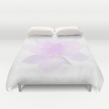 Morning Dew on the Petals Duvet Cover by Lena Photo Art