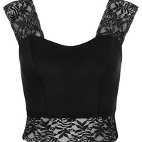 Lace Detail Crop Top - New In This Week - New In - Topshop USA