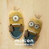 Minion Despicable Me Baby Booties Crochet PATTERN