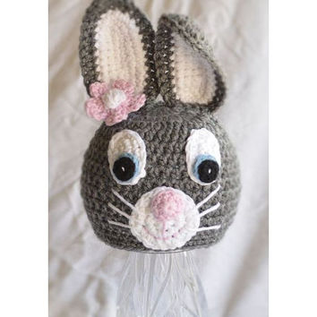 Bunny hat - Animal hat - Easter Hat - newborn to preteen photography prop newborn prop
