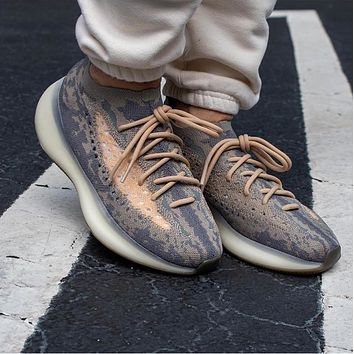 Adidas Yeezy Boost 380 V3 Men's and Women's Striped Sneakers