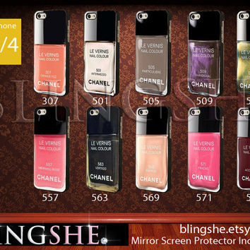 Chanel iphone 4 Case Nail Polish  10 Color Options by BlingSHE