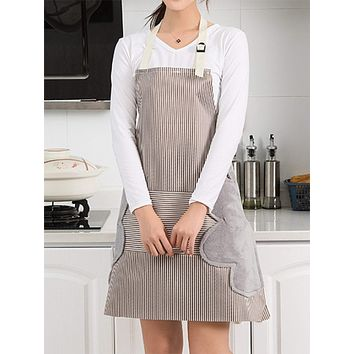 Striped Pattern Apron