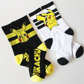 go General Socks Pocket Monster General Warm Stitching pattern Antiskid Invisible Casual Socks 2017 retail Kawaii Pokemon go  AT_89_9