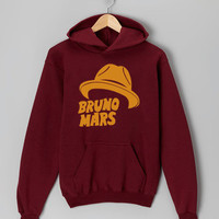 Bruno Mars Hat maroon hoodie for men and women