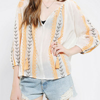 Urban Outfitters - Hazel Embroidered Gauze Tunic