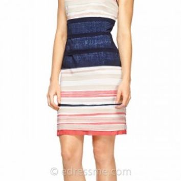 Nautical Stripped Cocktail Dress by Kay Unger