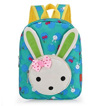 Hot Cute Rabbit Toddler Backpack Baby kids Kindergarten School Bag Book Bag Children Girls Gifts Children Backpacks