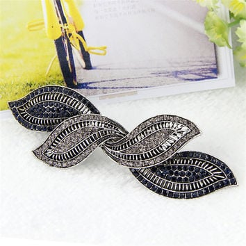 Fashion girls hair clips accessories luxuruous hair clips  accessories for women girls hair accessories rhinestone hair clip