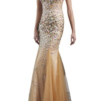 Ivydressing Sexy Double V-neck Sequins Mermaid Prom Evening Party Gowns