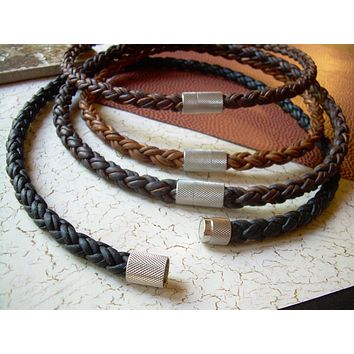 Necklace for Guy Mens Gift Birthday Anniversary Boyfriend Present Masculine Guys Gift Leather Jewelry For Men Braided Necklace  Magnetic