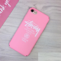 Pink Stussy Print 7 7plus &6 6s Plus Cover Case