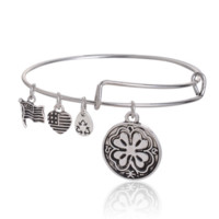 Alex and Ani flower pendant charm bracelet,a perfect gift !