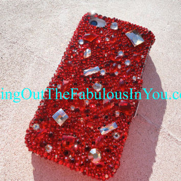 iPhone 5 iPhone 4 iPhone 4s Case Bedazzled by CrystalFetishBling
