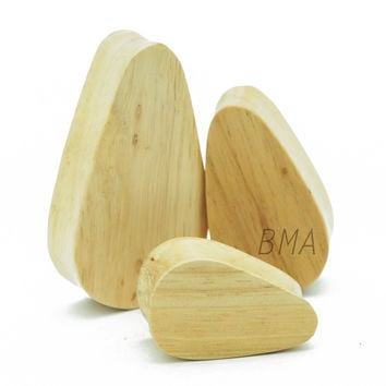 Maple Wood Teardrop Plugs (6mm-51mm)