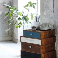 Wooden side table on wheels - Coloured — Bodie and Fou - Award-winning inspiring concept store