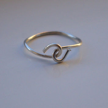 Infinity ring, irish knot jewelry, infinity jewelry, sterling silver ring