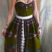 Uni Bustier Formal Gown or Wedding Dress… tribal african ethnic alternative boho hippie gypsy indie free people cotton colorful eco friendly