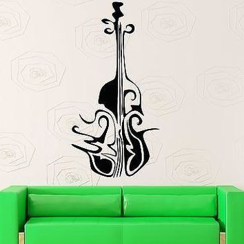 Wall Sticker Vinyl Decal Abstract Decor Musical Instrument Violin Unique Gift (ig1804)
