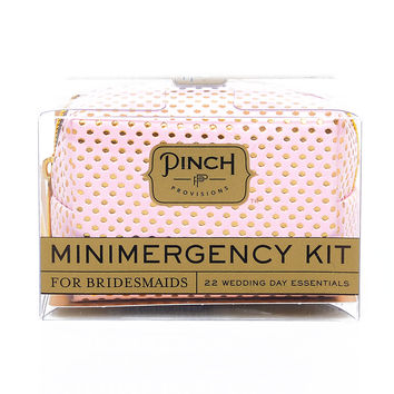 Pink & Gold Dot Bridesmaid Minimergency Survival Kit!