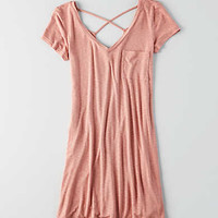 AEO Washed Tee Dress, Berry