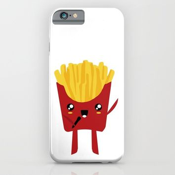 FRENCH FRIES SUPERSTAR SINGER iPhone & iPod Case by deificus Art