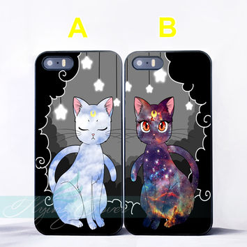 Luna Sailer Moon Cats Lovers BFF Couple Case for iPhone