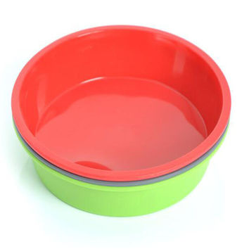 1 piece Round Silicone Pizza Pan Baking  Microwave Cake Oven Baking Dish Bread Plate Kitchen Tools