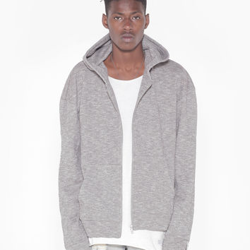 Heather Gray Multi-Zip Hoodie