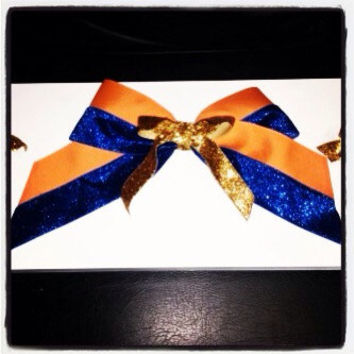 Orange & Blue Cheer Bow