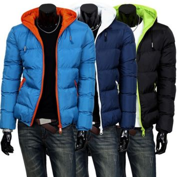 2014 Men's Two Color Winter Padded Jacket