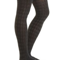 Houndstooth Sweater Tights by Charlotte Russe