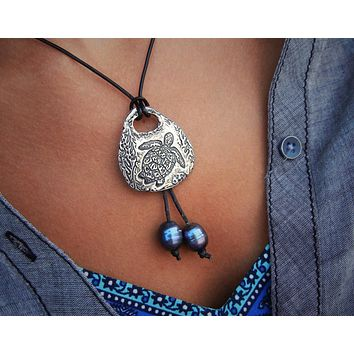 Bohemian Leather & Pearl Necklaces