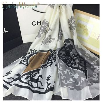 ONETOW 2016 New Summer 100% Real Pure Silk Scarf Women Shawls Classic Design Patterns Brand Scarf Quality Echarpe foulards dames sjaal