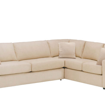 Sutton Place II Fabric True Sectional with Queen Sleeper Sofa