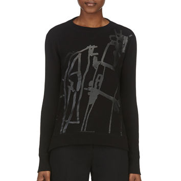 Rag And Bone Black Georgia Sweatshirt
