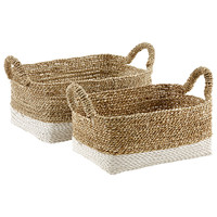Beach House Storage Bins with Handles