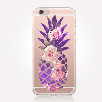 Transparent Pineapple iPhone Case - Transparent Case - Clear Case - Transparent iPhone 6 - Transparent iPhone 5 - Transparent iPhone 4