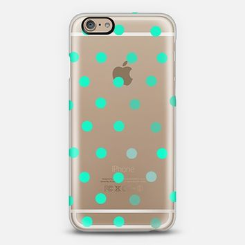 minty dots iPhone 6 case by Marianna Tankelevich | Casetify