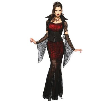 Halloween Costume Sexy Vampire Costume Women Masquerade Party Cosplay Gothic Halloween Dress Vampire Role Play Clothing Witch