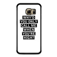 Personalised AM song lyrics Samsung Galaxy S6 Edge Case