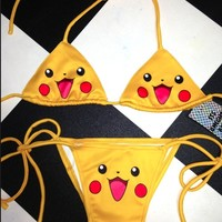 SWEET LORD O'MIGHTY! PIKACHU BIKINI TOP